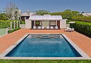 Swimming Pool, Modern Home, Daniels Lane, designed by Charles Gwathmey, Sagaponack, New York