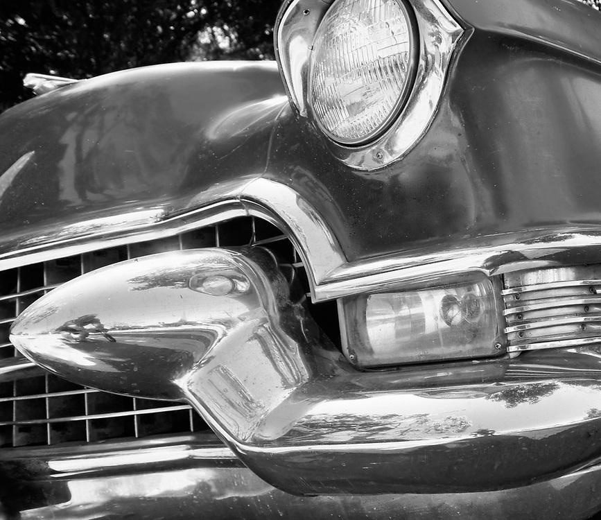 Antique Auto, 50s Oldsmobile, Black and White