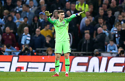 Chelsea goalkeeper Kepa Arrizabalaga refuses to be substituted during the Carabao Cup Final at Wembley Stadium, London.