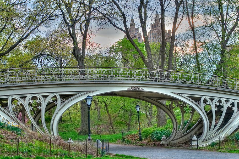 "Gothic Bridge, ""Reservoir Bridge West 94th Street"", New York, New York, Central Park, designed by Calvert Vaux"