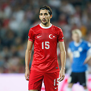 Turkey's Mehmet Topal during their FIFA World Cup 2014 qualifying soccer match Turkey betwen Estonia at Sukru Saracoglu stadium in Istanbul September 11, 2012. Photo by TURKPIX