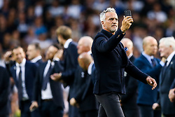 David Ginola walks out as Tottenham Hotspur put on a farewell show with former and current players after the final game at White Hart Lane before it's closure for demolition and redevelopment - Rogan Thomson/JMP - 14/05/2017 - FOOTBALL - White Hart Lane - London, England - Tottenham Hotspur v Manchester United - Premier League.