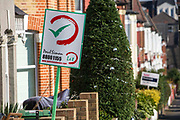 Let & For Sales signs, Duckett Road, Harringay, London, UK.