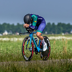 EMMEN (NED) June 16: <br />CYCLING <br />Dutch Nationals Time Trail Women Elite Sharon Dommanschet