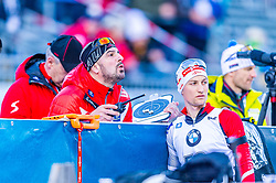 16.01.2020, Chiemgau Arena, Ruhpolding, GER, IBU Weltcup Biathlon, Sprint, Herren, im Bild v.l. Ricco Gross Cheftrainer Herren (AUT), Felix Leitner (AUT) // f.l. Ricco Groß head coach of Austria men and Felix Leitner of Austria during the men's sprint competition of BMW IBU Biathlon World Cup at the Chiemgau Arena in Ruhpolding, Germany on 2020/01/16. EXPA Pictures © 2020, PhotoCredit: EXPA/ Stefan Adelsberger
