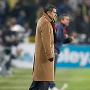 Trabzonspor's coach Senol GUNES during their Turkish superleague soccer derby match Fenerbahce between Trabzonspor at the Sukru Saracaoglu stadium in Istanbul Turkey on Sunday 30 January 2011. Photo by TURKPIX