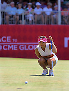 26JUL15 Allison Lee on 18 during Sunday's Final Round of The Meijer LPGA Classic at The Blythefield Country Club in Belmont, Michigan. (photo credit : kenneth e. dennis/kendennisphoto.com)