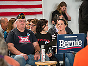 11 NOVEMBER 2019 - DES MOINES, IOWA: People wait for Bernie Sanders' town hall to start in Des Moines. About 120 people attended a town hall sponsored by Sen. Sanders in Des Moines. The subject of the town hall was veterans, senior citizens, and health care. The event was part of Sanders' campaign to be the Democratic presidential nominee in 2020. Iowa hosts the first selection event of the presidential election cycle. The Iowa Caucuses are Feb. 3, 2020.           PHOTO BY JACK KURTZ