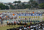 Horseracing at Port Louis Turf Club in Mauritius