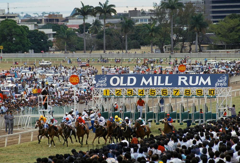 Horseracing at Port Louis Turf Club in Mauritius