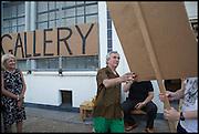 KATHRYN KLASSNIK; ROBIN KLASSNIK, Matt's Gallery 35th birthday fundraising supper.  42-44 Copperfield Road, London E3 4RR. 12 June 2014.
