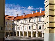 The courtyard of Vilnius University,  in Senamiestyje/Old Town, Vilnius, Lithuania