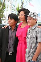 Rodolfo Dominguez, Karen Martinez, Brandon Lopez, at the La Jaula De Oro film photocall Cannes Film Festival on Wednesday 22nd May 2013