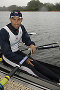 Caversham, Great Britain,   Mark HUNTER, at the Redgrave Pinsent Rowing Lake. GB Rowing Training centre. Wed. 20.04.2008  [Mandatory Credit. Peter Spurrier/Intersport Images] Rowing course: GB Rowing Training Complex, Redgrave Pinsent Lake, Caversham, Reading