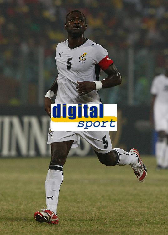 Photo: Steve Bond/Richard Lane Photography.<br />Ghana v Namibia. Africa Cup of Nations. 24/01/2008. John Mensah, Ghana skipper of Rennes