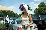 ISABEL KRISTENSEN, Royal Ascot. Tuesday. 14 June 2011. <br /> <br />  , -DO NOT ARCHIVE-© Copyright Photograph by Dafydd Jones. 248 Clapham Rd. London SW9 0PZ. Tel 0207 820 0771. www.dafjones.com.