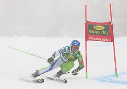 Zan Groselj of Slovenia during 1st run of Men's Giant Slalom race of FIS Alpine Ski World Cup 57th Vitranc Cup 2018, on 3.3.2018 in Podkoren, Kranjska gora, Slovenia. Photo by Urban Meglič / Sportida