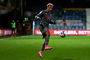 Nottingham Forest forward Lyle Taylor (33) controls the ball during the EFL Sky Bet Championship match between Luton Town and Nottingham Forest at Kenilworth Road, Luton, England on 28 October 2020.
