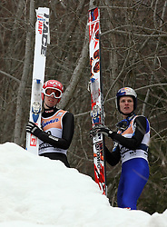 Anders Bardal (NOR) and Thomas Morgenstern (AUT) at Flying Hill Individual in 2nd day of 32nd World Cup Competition of FIS World Cup Ski Jumping Final in Planica, Slovenia, on March 20, 2009. (Photo by Vid Ponikvar / Sportida)