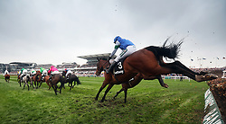 Coo Star Sivola ridden by Lizzie Kelly (right) jumps a fence in the Betway Mildmay Novices' Chase during Ladies Day of the 2018 Randox Health Grand National Festival at Aintree Racecourse, Liverpool.