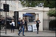 Outside Frieze art Fair. Regent's Park, London, 19 October 2014