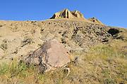 'The Sandcastle' badlands <br /> near Beechy<br /> Saskatchewan<br /> Canada