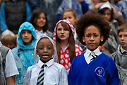 Kids' Choir held in the Scoop by City hall is a Year 5 singing project which builds upon the highly successful model developed by the Mayor's Thames Festival since 2003, aimed at increasing and supporting singing in schools. Since 2003, 5,678 children have taken part in Kids' Choir..Led by Music Director†Richard Frostick, the project will develop a high quality choral performance with 700 children from 9 London boroughs -† Greenwich, Hackney, Hammersmith and Fulham, Islington, Lambeth, Lewisham, Southwark, Tower Hamlets and Wandsworth..The Thames Festival 2011, photo by Barry Lewis. The Festival celebrates London and the iconic river at its heart - the Thames - by dancing in the streets, feasting on bridges, racing on the river and playing at the water's edge.