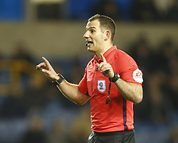 February 12, 2019 - London, England, United Kingdom - Referee Tim Robinson.during Sky Bet Championship match between Millwall and Sheffield Wednesday at The Den Ground, London on 12 Feb 2019. (Credit Image: © Action Foto Sport/NurPhoto via ZUMA Press)