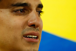 July 3, 2018 - Moscou, Rússia - MOSCOU, MO - 03.07.2018: COLOMBIA VS ENGLAND - Colombian supporter cries after Colombia's de in  in a match between Colombia and England valid for the eighth finals of the 2018 World Cup finals, held at the Otkrytie Arena in Moscow, Russia. (Credit Image: © Marcelo Machado De Melo/Fotoarena via ZUMA Press)