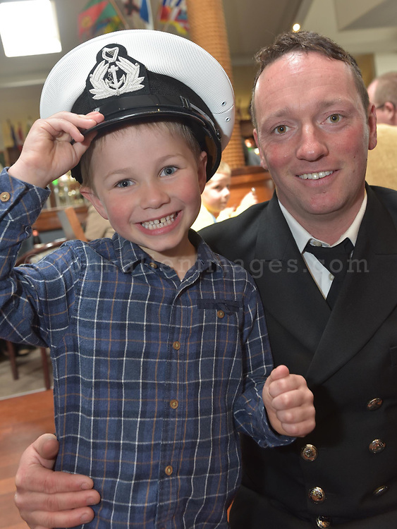 REPRO FREE<br /> Patrick Quinn, Oysterhaven Coast Guard and his godson George McCarthy from Nohoval pictured at the annual Sea Sunday service and parade in Kinsale.<br /> Picture. John Allen