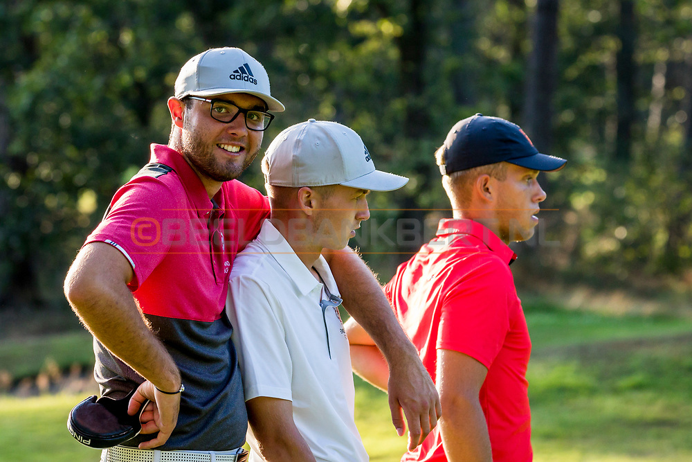 20-07-2019 Pictures of the final day of the Zwitserleven Dutch Junior Open at the Toxandria Golf Club in The Netherlands.<br /> Harry Goddard supporting Thornton