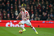 Marko Arnautovic of Stoke city in action. Premier league match, Stoke City v Manchester Utd at the Bet365 Stadium in Stoke on Trent, Staffs on Saturday 21st January 2017.<br /> pic by Andrew Orchard, Andrew Orchard sports photography.
