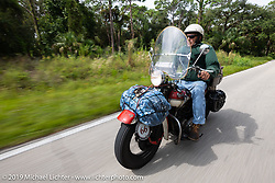 Jerry Wieland riding his 1941 Harley-Davidson FL Knucklehead bagger in the Cross Country Chase motorcycle endurance run from Sault Sainte Marie, MI to Key West, FL. (for vintage bikes from 1930-1948). Stage-9 covered 259 miles from Lakeland, FL to Miami, FL USA. Saturday, September 14, 2019. Photography ©2019 Michael Lichter.
