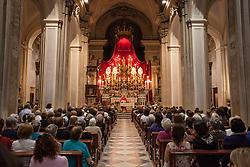 Scorrano, festa di Santa Domenica 2013. Funzione religiosa dedicata a Santa Domenica