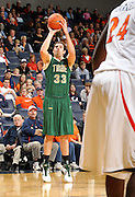 Nov. 12, 2010; Charlottesville, VA, USA;  William & Mary Tribe forward JohnMark Ludwick (33) shoots the ball during the game against the Virginia Cavaliers at the John Paul Jones Arena.  Mandatory Credit: Andrew Shurtleff