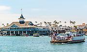 People on the Balboa Island Ferry