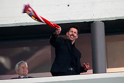 Atletico de Madrid's coach Diego Simeone celebrates the victory in the Europa League semi-final, second leg in Madrid, Spain, May 3, 2018. Atletico won 1-0 and reaches the final. Photo by Acero/Alterphotos/ABACAPRESS.COM