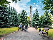 Skwer w centrum miasta Sejny, Polska<br /> Square in the centre of Sejny, Poland