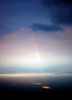 Sola bryter gjennom skydekket, the sun breakes through the clouds