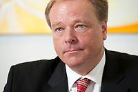 19 JUL 2010, BERLIN/GERMANY:<br /> Dirk Niebel, Bundesentwicklungshilfeminister, waehrend einem Interview, in seinem Buero, Bundesministerium fuer wirtschaftliche Zusammenarbeit und Entwicklungshilfe<br /> IMAGE: 20100719-01-002
