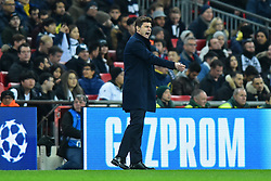 February 13, 2019 - London, England, United Kingdom - Tottenham Manager Mauricio Pochettino has perfect tactics during the UEFA Champions League match between Tottenham Hotspur and Ballspielverein Borussia 09 e.V. Dortmund at Wembley Stadium, London on Wednesday 13th February 2019. (Credit: Jon Bromley | MI News & Sport Ltd) (Credit Image: © Mi News/NurPhoto via ZUMA Press)