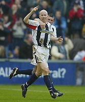 Sportsbeat Images<br />West Bromwich Albion v Cardiff<br />Saturday 14th February 2004<br />WBA V CARDIFF CITY<br />WBA'S LEE HUGHES CELEBRATES WINING GOAL