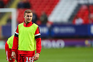 Doncaster Rovers midfielder Herbie Kane (15) warms up prior to the The FA Cup 2nd round match between Charlton Athletic and Doncaster Rovers at The Valley, London, England on 1 December 2018. Photo by Toyin Oshodi