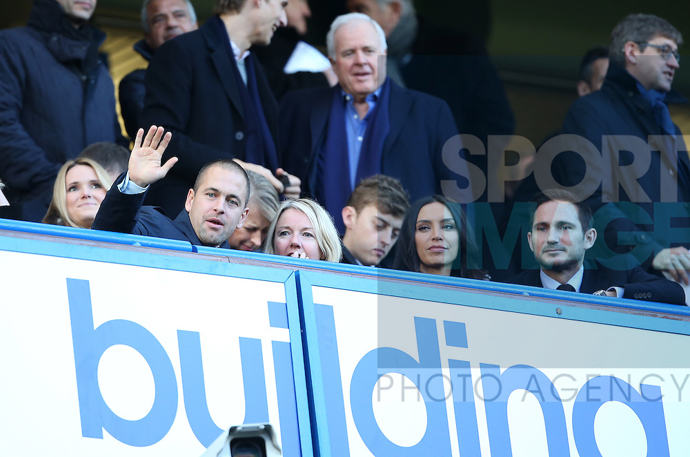 Chelsea's former players Joe Cole, Frank Lampard with Christine Bleakley during the Premier League match at Stamford Bridge Stadium, London. Picture date December 11th, 2016 Pic David Klein/Sportimage