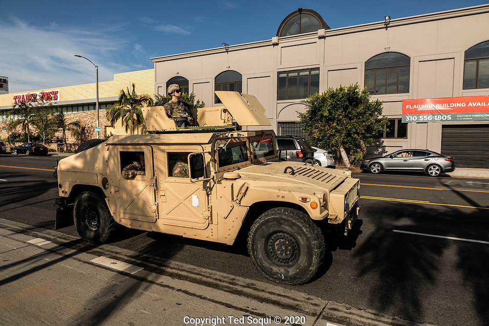 The California National Guard is deployed in Los Angeles.<br /> Rioting and looting have ravaged the city over the past two days.<br /> 5/31/2020 Los Angeles, CA USA<br /> (Photo by Ted Soqui)