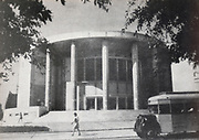 Historic photograph of Habimah National theatre, Tel Aviv, Israel circa 1945