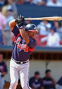 March 8, 2003, Winter Haven, Florida, USA;  Julio Franco of the Atlanta Braves batting against the Cleveland Indians during Spring Training at Chain O'Lakes Stadium.