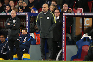 Pep Guardiola, the Manchester City manager looking on from the touchline. Premier League match, Crystal Palace v Manchester city at Selhurst Park in London on Saturday 19th November 2016. pic by John Patrick Fletcher, Andrew Orchard sports photography.