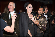 CHARLES SAUMERAZ SMITH; ROSA DE PALMA; PABLO GANGULI, Liberatum Cultural Honour for Francis Ford Coppola<br /> with Bulgari Hotel & Residences, London. 17 November 2014