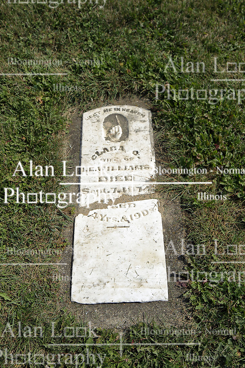 23 September 2017:  Clara Williams. West Union Cemetery is located on the north side of Illinois Rt 9 between Danvers and Mackinaw.  It is located within McLean County
